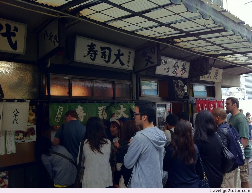 築地市場-壽司大